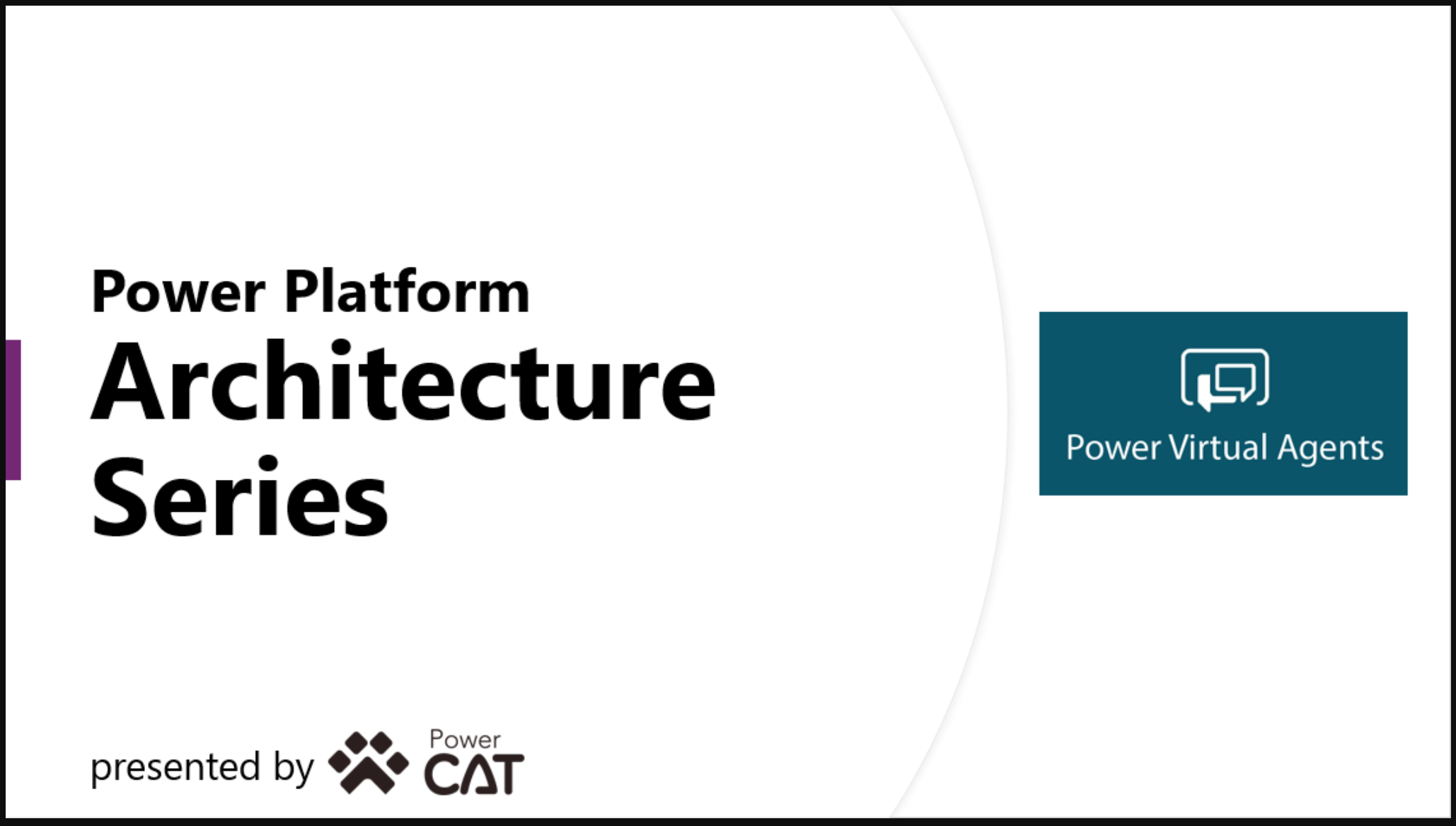 Power Virtual Agents Architecture Series – now available!